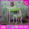 Beautiful Wooden Dressing Table with Cheap Price, Cheap Wooden Girls Dressing Table for Bedroom Furniture W08h024