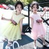 Girls' Fresh and Sweet Mesh Dress