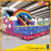 Inflatable Rainbow Slide with Bouncer (AQ01519)