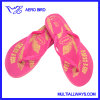 Summer Casual Girl PE Slipper with Gloden Printing