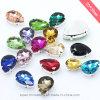 Rhinestone Jewelry Metal Base Sew on Glass Chaton Rhinestone (SW-Drop 20*30mm)