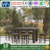 Outdoor PE Rattan Garden Modern Patio Dining Bar Table Set (TG-JW67)