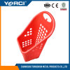 2017 New Style Most Popular Supermarket Plastic Basket with 4 Wheels