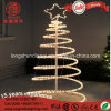 LED Flashing Decorative 3D Spiral Rope Christmas Tree Light for Outdoor Garden Decoration