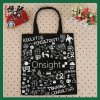 8oz Canvas Black Color Student Leisure Bag for Carrying Book