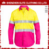 Pink Long Sleeve High Visibility Safety Shirts Work with Reflective Tape