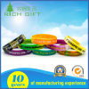 Rainbow Color Custom Debossed/ Embossed/ Printed Logo Designed Silicone Wristbands