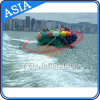Durable 0.9mm PVC Tarpaulin Inflatable UFO, Inflatables Saturn with Handles Rockers, Inflatable Disco Boat Water Toy