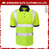 Custom High Quality Reflective Safety Work Polo Shirts (ELTSPSI-9)
