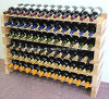 Large 72 Bottle Solid Wood Wine Rack Storage Display
