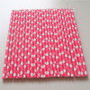 Hot Pink Polka DOT Paper Straw for Party