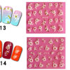OEM 3D White Flower with Stone Nail Art Sticker