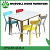 MDF Dining Table and Colorful Chairs