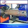 Chuck Type Metal Tube Pipe Channel Cutter / Bevel Cutting Machine