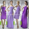 Bridesmaid Dress Purple Chiffon Evening Gowns Empire A Line Bridal Dress a-17