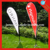 Outdoor Stand White Teardrop Banner