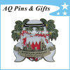 3D Challenge Coin with Antique Silver Plating