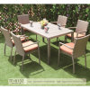Patio Furniture Waterproof Use and Rattan Material Dining Chair