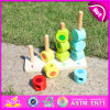 2015 Colorful Learn Number Block Toy, Wooden Counting Stacking Blocks Toy, Education Kids Big Building Stacking Blocks Toy W13D076