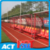 Economic Curved Frame Socketed Team Shelter / Dugouts for Grass Field