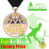 Wholesale Custom Gold/Silver/Bronze Engraving Medal with Ribbon