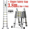 3.8m 2 in 1 Telescopic Ladder with Finger Safety Gap