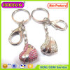 Lover′s Gift! Golden CZ Stone Heart Shape Keychain