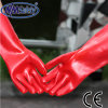 Nmsafety Long Red PVC Oil and Water Resistant Working Glove