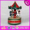 Hot Sale 2015 Wooden Toy Carousel Music Box, Cheap Wooden Carousel Music Box, Musical Wooden Toy Carousel Horse Music Box W07b009A