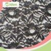 150cm Eco Friendly Sexy Black Nylon Elastic Lace Fabric