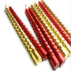 12 PCS Pack Spiral Gold Candle Stick Party Candles