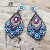 New Design Fashion Delicate Retro Peacock Shape Earring Jewelry