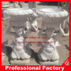 Human Marble Carved Flowerpot Flower Vase for Garden