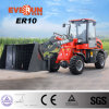 Qingdao Everun New Design Strong Mini Front End Loader Er10 Wheel Loader with Mixer Bucket
