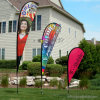 Complete Set for Sale Garden / Home Decoration Teardrop Bow Flag