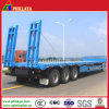 3 Axles Low Bed Semi Trailer for Backhoe Loader