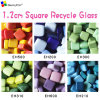 1.2cmx1.2cm Colour Square Shape Recycle Glass Mosaic, Loose DIY Mosaic Art Hobbies Craft Material