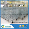 Folding Stackable Wire Mesh Metal Storage Container with Wheels