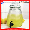 Rounded Horizontal Grain 5L Beverage Dispenser Jar