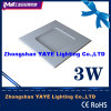 Yaye CE / RoHS Square 3W LED Panel Light / 3W Square LED Ceiling Light with 2 Years Warranty