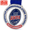 Hot Sale Cheap Customer Design Stamp Delicate Custom Round Plating Silver Sport Souvenir Medal with Ribbon