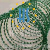 Green Color Coated Razor Barbed Wire