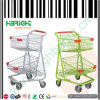 Duoble Baskets Shopping Trolley Cart for Super Store