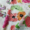 100%Cotton Voile Fabric for Clothing with Flower Printed (60X60/90X88)
