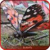 Theme Park Decoration Colorful Animatronic Butterfly Model