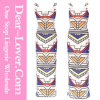 Aztec Tribal Stripe Soft Long Wedding Evening Dresses