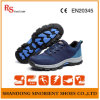 Breathable Lining Sport Safety Shoes with Woven Fabric Upper RS810