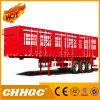 Red Color Van-Type Truck Cargo Semi-Trailer