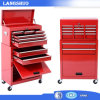 Homcom Deluxe Rolling Tool Cabinet Chest with 6 Drawers and Removable Tool Box - Red