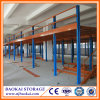 Warehouse Storage Two Floors Mezzanine & Platform Floor as Factory Roof Steel Structure